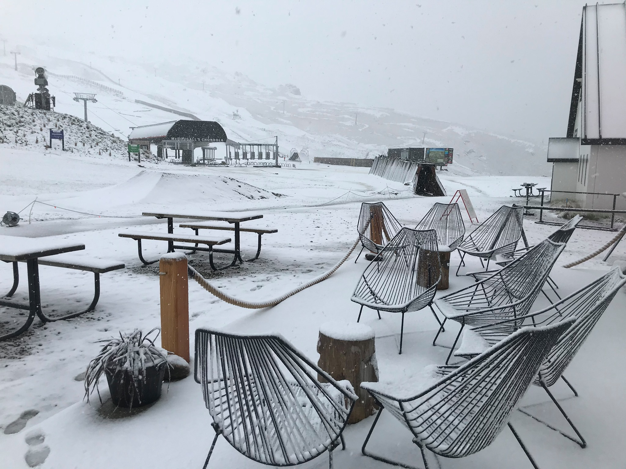 summer snow, Cardrona