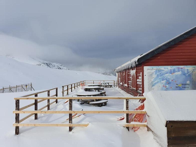 snow and some blue sky, Glencoe Mountain Resort