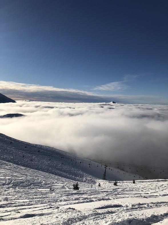 Brezovica above the clouds