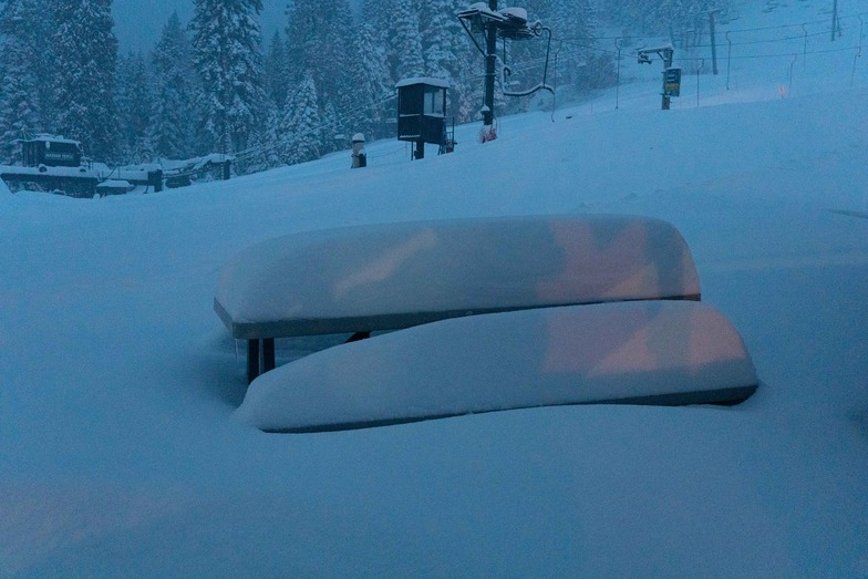 good snowfall, Homewood Mountain Resort