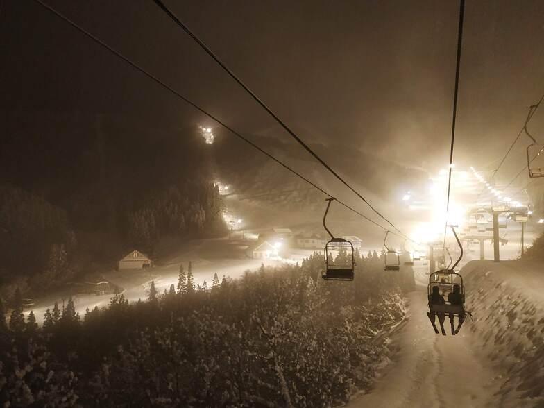 Night skiing at Kandatsu, Pine Ridge Resorts Kandatsu