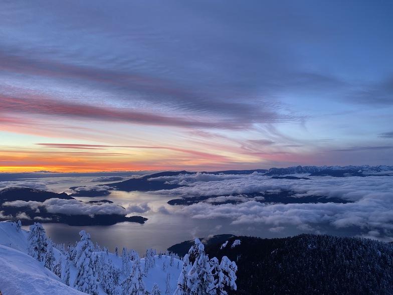 Feb 5th Sunset, Cypress Mountain