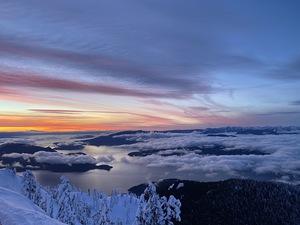 Feb 5th Sunset, Cypress Mountain photo