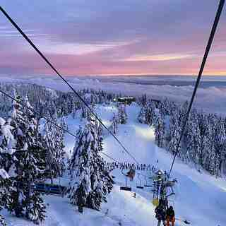Feb 5th Sunset, Cypress Mountain