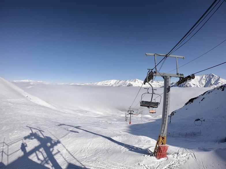 Above the clouds, Dizin