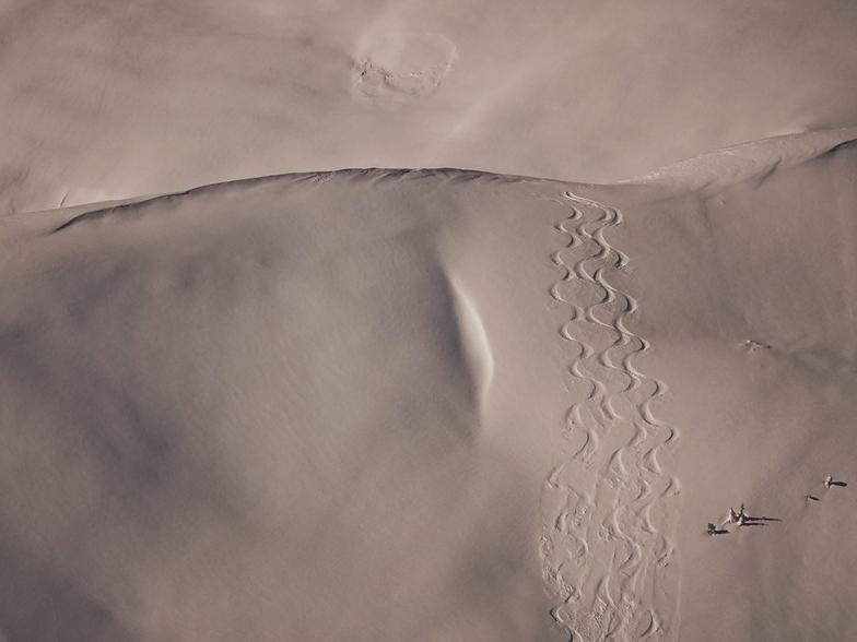 Backcountry tracks, Shames Mountain