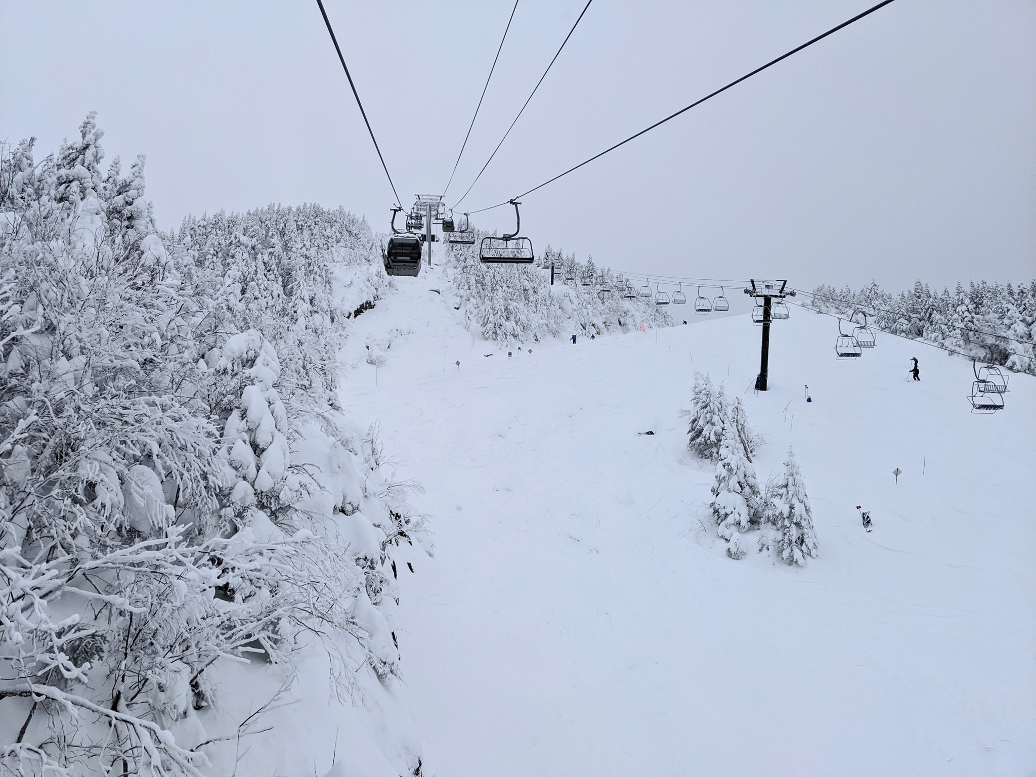 lots of snow, Mont Orford