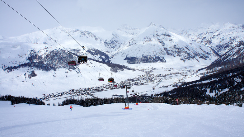 Panoramic from lift, Livigno