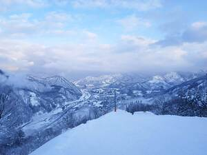 The view as you start the downhill course back to the base at GALA Yuzawa photo