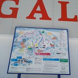 Course map the quad lift building in the base area, Gala Yuzawa