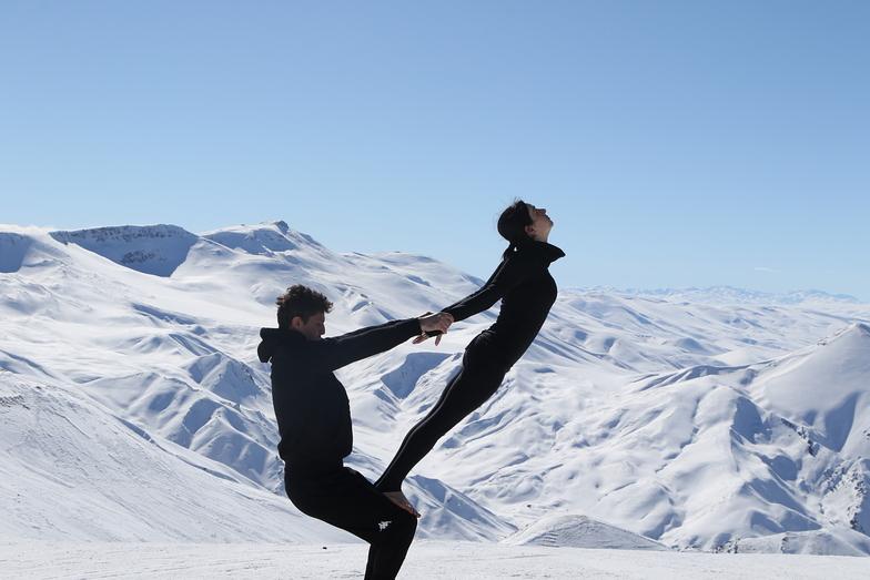 yoga, Mt Palandöken