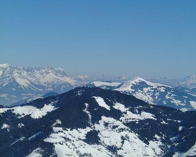 Hot Air Balloons over the alps, Auffach