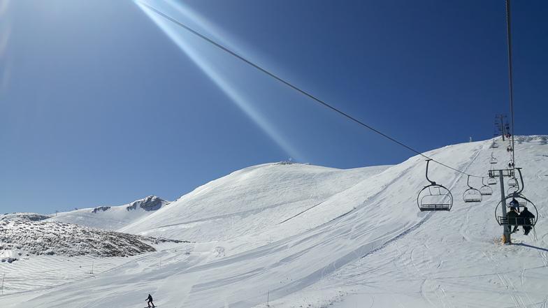 Rare end of March freeze, Mzaar Ski Resort