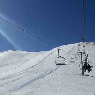 Rare end of March freeze, Mzaar Ski Resort