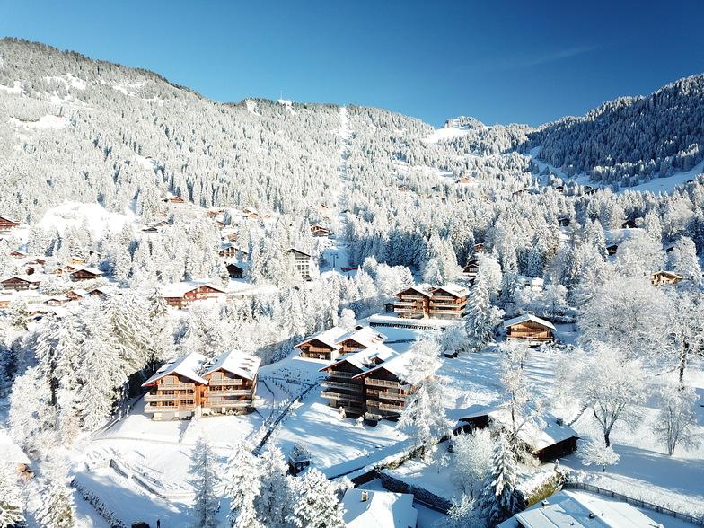 Villars under snow