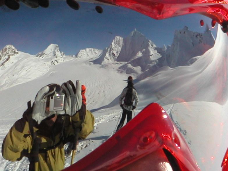 Goggle Reflection of the Pencil Glacier, Valdez, Alaska, Alyeska Resort