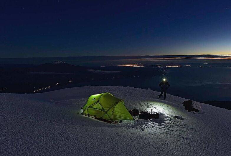 Noche en el Volcan, Volcán Osorno