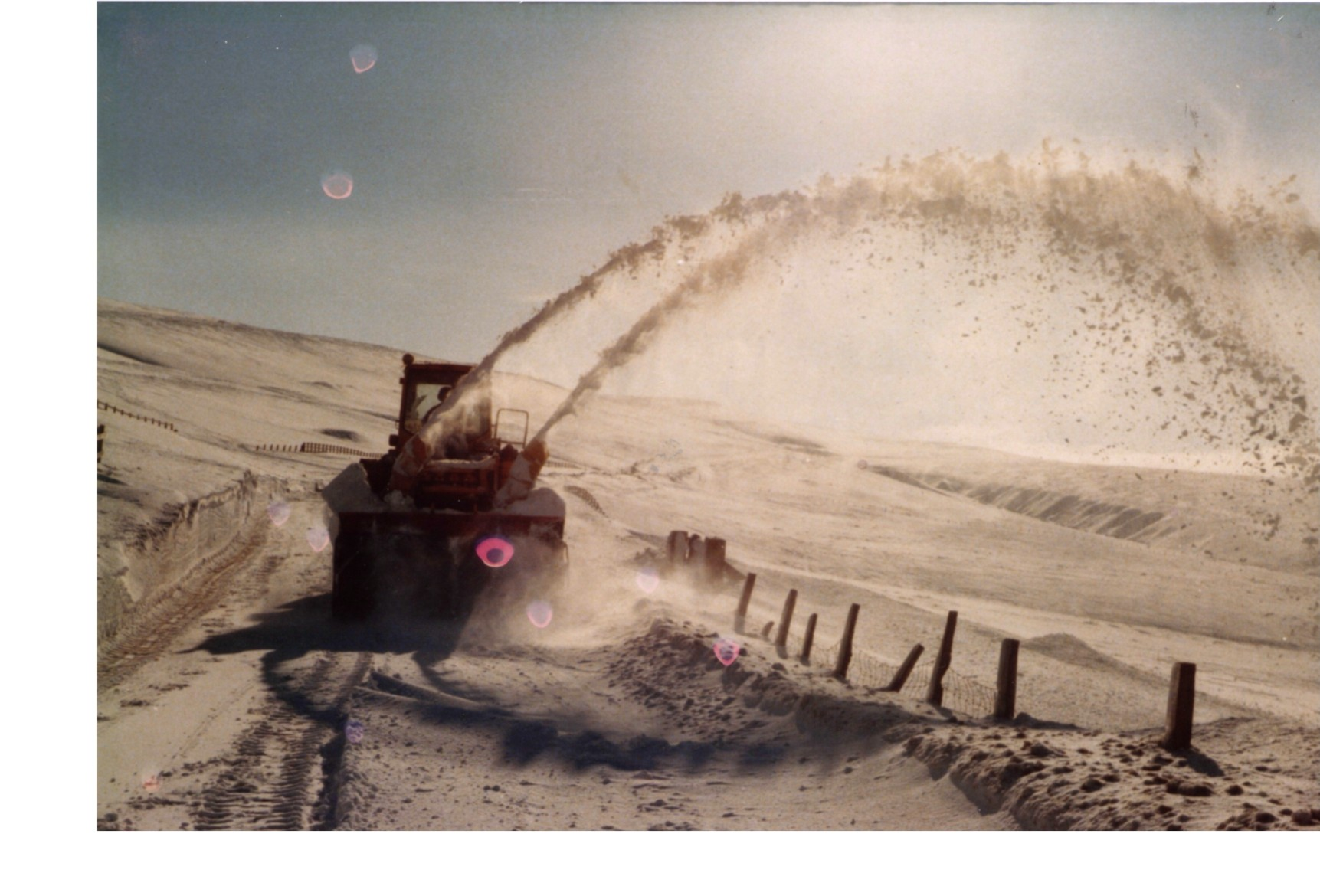 Snow Blower B6277 Alsto to Middleton in Teesdale 1986, Yad Moss
