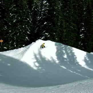 James Hitting the Razorback, Stevens Pass