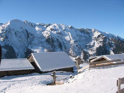 tuxer alps in Tyrol, Hintertux