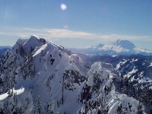 Aerial View Snoqualmie Pass Washington State, Summit at Snoqualmie photo