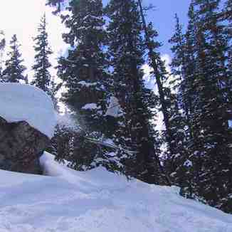 Messing around in the trees, A-Basin Backcountry, CO, Arapahoe Basin