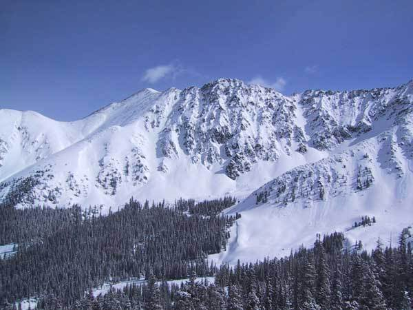 Couloirs above and beyond the East Wall, A-Basin, CO, Arapahoe Basin