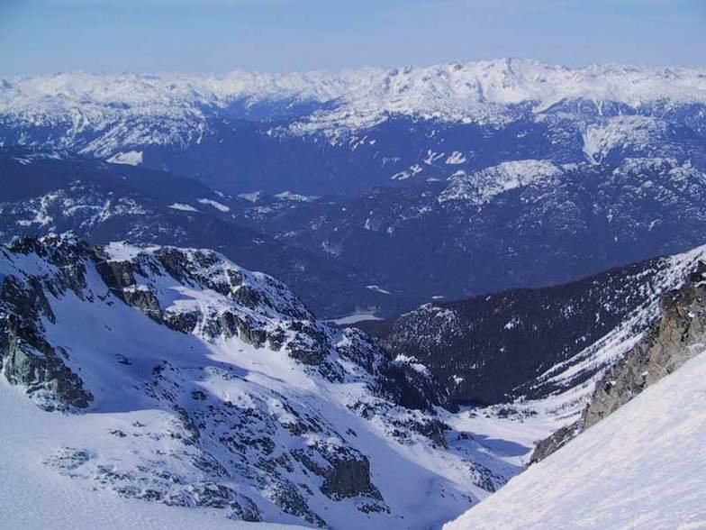 Looking down the Blackcomb Glacier, Blackcomb, BC, Whistler Blackcomb