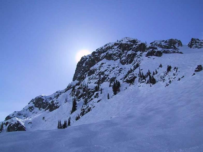 Secret Chute from the Glacier Creek Chair, Blackcomb, BC, Whistler Blackcomb