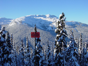 whistler mountain form 7th heaven on blackcomb photo