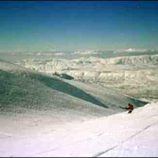 skiing@Anti-lebanon mountain range,lebanon, Cedars