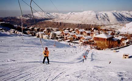 Skiing@faraya-mzaar,lebanon, Mzaar Ski Resort