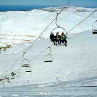 chairlift at faraya-mzaar,lebanon, Mzaar Ski Resort