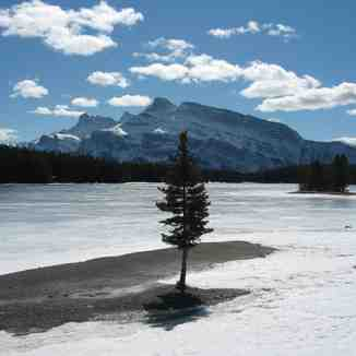 Frozen Lakeside in Banff, Banff Mt Norquay