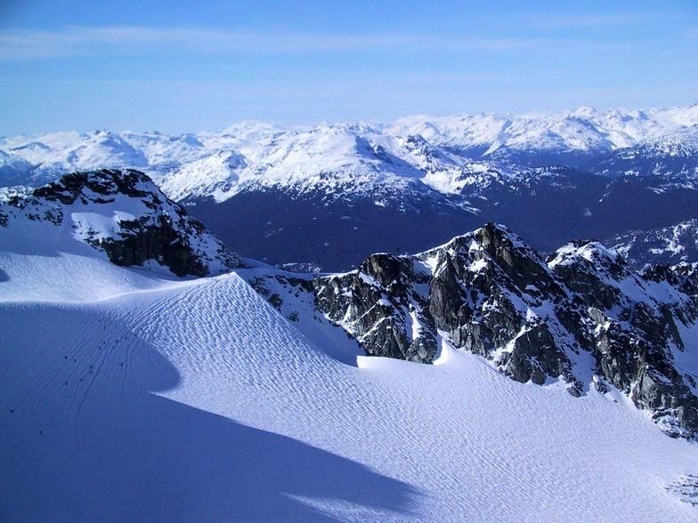 The Blow Hole & Blackcomb Glacier, Blackcomb, BC, Whistler Blackcomb