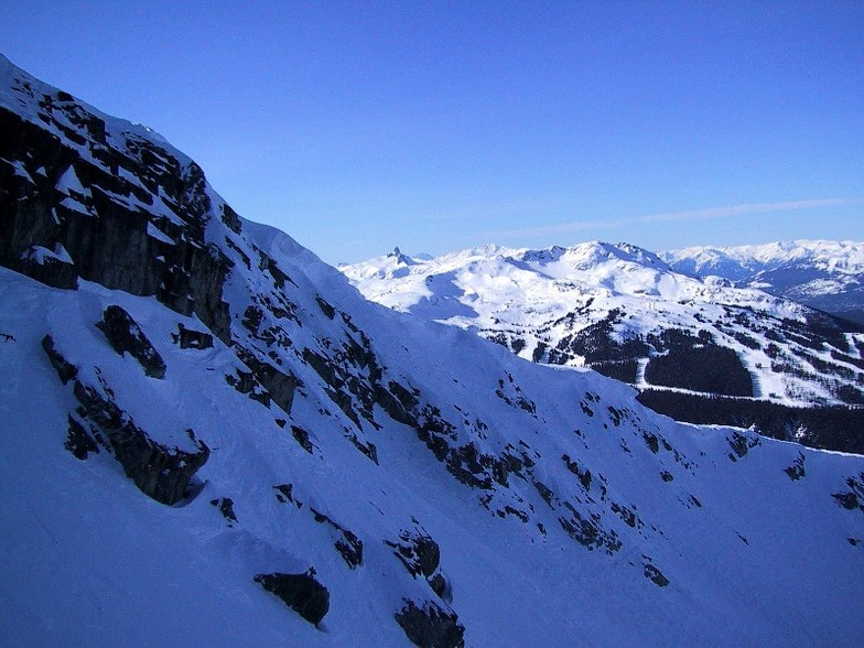 From Jersey Cream Bowl, Looking towards Whistler Mountain, BC, Whistler Blackcomb