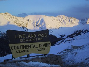 Looking towards A-Basin, Loveland Pass, CO photo