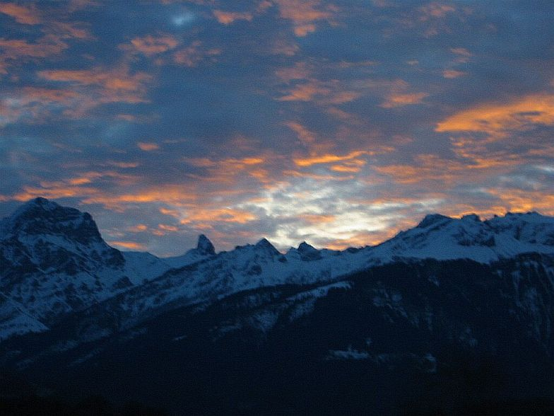 Sunrise over the Alps, Zermatt
