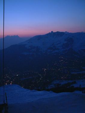 Sunset over Verbier