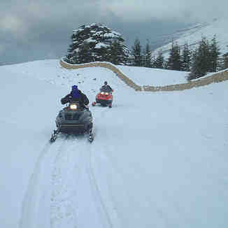 Snowmobiling in the cedars,lebanon