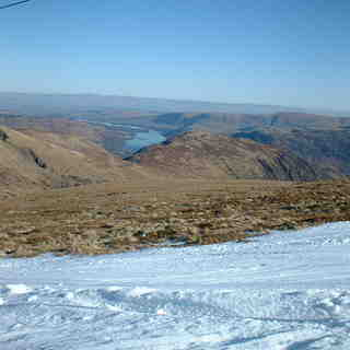 Scafell Pike Snow: Ullswater and Crossfell from Raise Feb 03