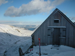 Raise hut early Feb 03, Yad Moss photo