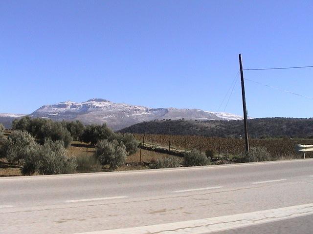 Snow near Ronda, 30mins from Marbella, Costa del Sol, Sierra Nevada
