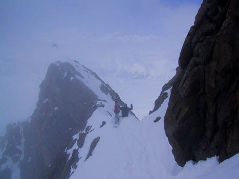 Entrance to the Sin Salida Couloir, Las Lenas, Argentina, Las Leñas