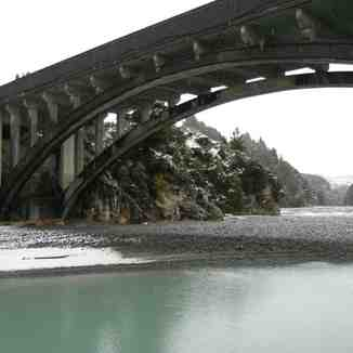 Rakaia River gorge bridge, Mount Hutt