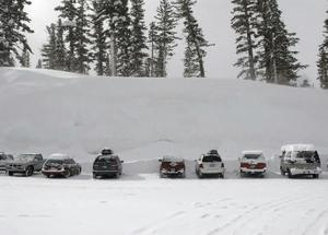 deep pack, Mammoth Mountain photo