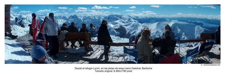 View from refugio Lynch, level 2050 mts, Cerro Catedral