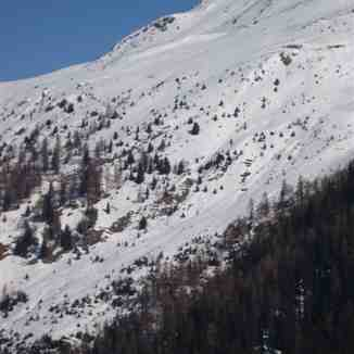 Teufi. The northern face of Jakobshorn,Davos