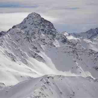 The steep Sennefluh shutes above Davos