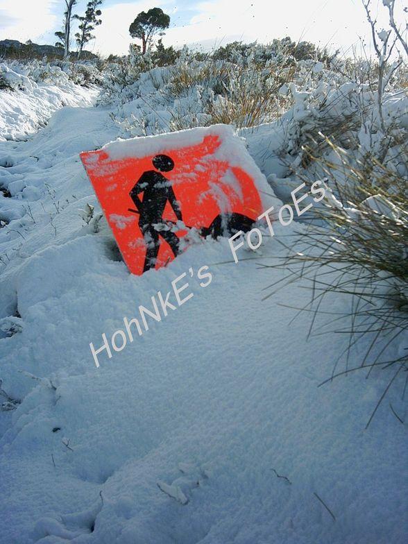 National Parks Track Workers - Mt Rowland, Tasmania. Australia, Ben Lomond